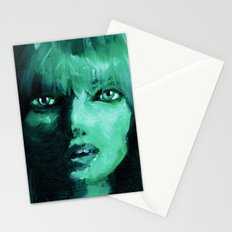 THE GREEN QUICK PORTRAIT Stationery Cards