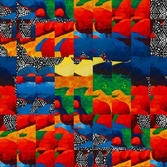 Squared Landscape  Art Print