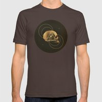 Skull I Mens Fitted Tee Brown SMALL