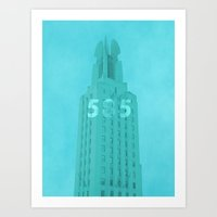Time Square Building Rochester NY Art Print