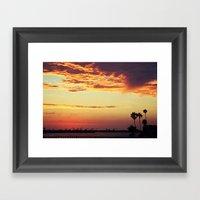 Goodbye Sun Framed Art Print