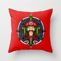 Mario's Melancholy Throw Pillow