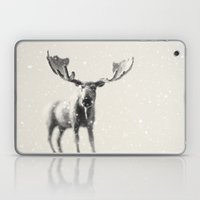 winter moose Laptop & iPad Skin