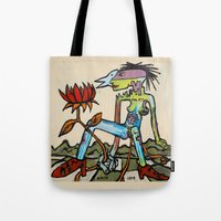 Her Flower Power Tote Bag