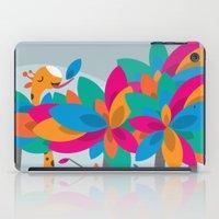 Orange And Trees iPad Case