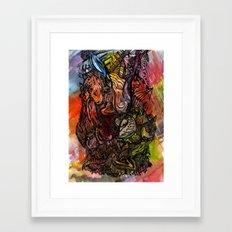 Watercolor Illusion  Framed Art Print