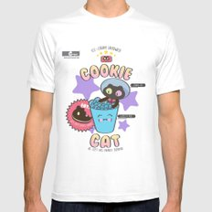Cookie Cat SMALL Mens Fitted Tee White