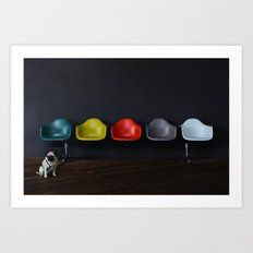Vitra dog Art Print