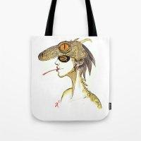 The Masquerade:  The Iguana Tote Bag