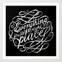 Everything in it's right place Art Print