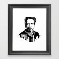 Avengers In Ink: Iron Ma… Framed Art Print