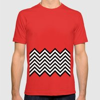 Black Lodge Dreams (Twin… Mens Fitted Tee Red SMALL