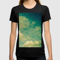 Cloud Study 1 Womens Fitted Tee Tri-Black SMALL