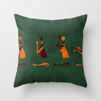 Forms of Prayer - Green Throw Pillow