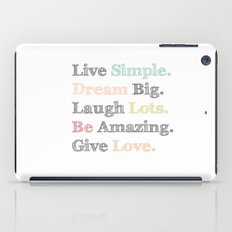 Inspiration Typography Quote Words Pastel  iPad Case