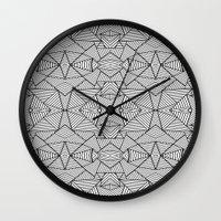 Abstract Mirror Black On… Wall Clock