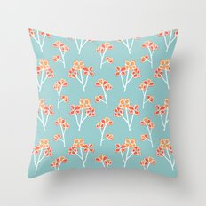 anemone flowers :: sea mist Throw Pillow