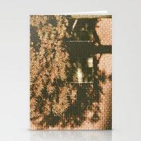 autumn tree, shadow Stationery Cards