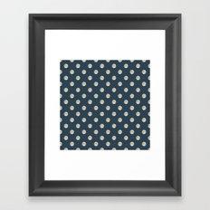 Full Moon Polka Dot Framed Art Print