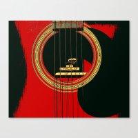 Guitar Sound Hole Canvas Print