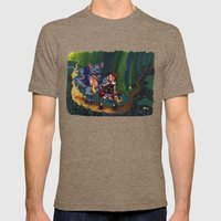 Little Red Riding Hood Mens Fitted Tee Tri-Coffee SMALL
