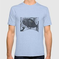 Hungry Fish Mens Fitted Tee Athletic Blue SMALL