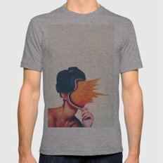 Carrot Face Mens Fitted Tee Athletic Grey SMALL