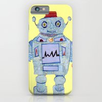 iPhone & iPod Case featuring Robot Robotic! by GiGi Garcia Collages
