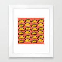 Infinity Tacos Framed Art Print