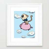 Pigs Do Fly Framed Art Print