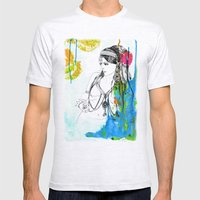 Tribal Beauty 6 Mens Fitted Tee Ash Grey SMALL