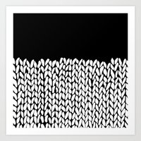 Half Knit Art Print
