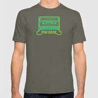 You Rock Mens Fitted Tee Lieutenant SMALL