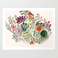 Art Print featuring Succulents  by Hannah Margaret Illu…