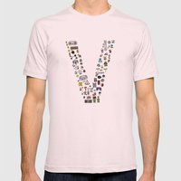 letter V - Nintendo Classics Mens Fitted Tee Light Pink SMALL