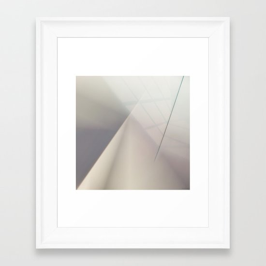 Space Geometry V Framed Art Print