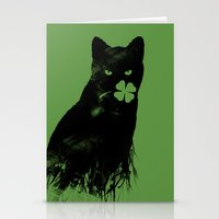 St Paddy's Cat Stationery Cards
