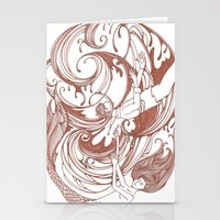 Stationery Card featuring Skeleton Key by PiqueStudios