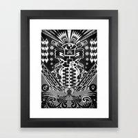 Insane Black & White Framed Art Print