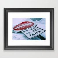 Do Not Enter Framed Art Print