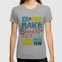 Beach Spike_volleyball Womens Fitted Tee Athletic Grey SMALL