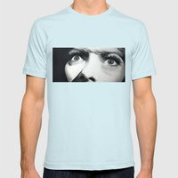Rearview Mirror Mens Fitted Tee Light Blue SMALL
