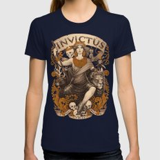 INVICTUS Womens Fitted Tee Navy SMALL
