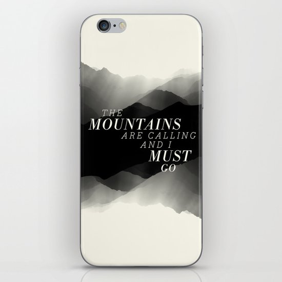 Mountains - BW iPhone & iPod Skin