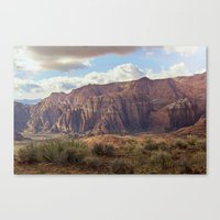 Snow Canyon Canvas Print