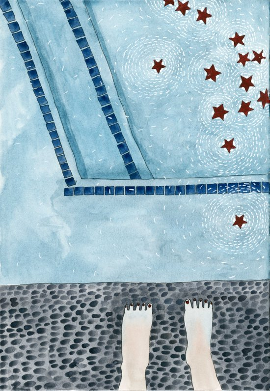 Stars in my swimming pool Art Print