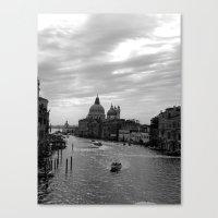 Venice Grand Canal In Bl… Canvas Print