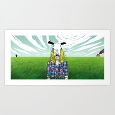 Cowgirl From Hell Art Print