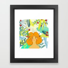 Let's be adventurers Girl Framed Art Print