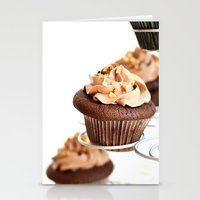 nutella cup cake Stationery Cards